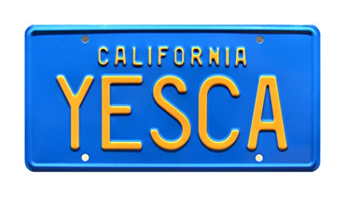Celebrity Machines Cheech & Chong | YESCA | Metal Stamped License Plate