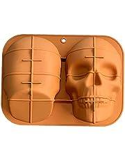 Hainice Halloween Cake Mold Skull Silicone Haunted Cake Pan Bakning Verktyg för Party Decorations