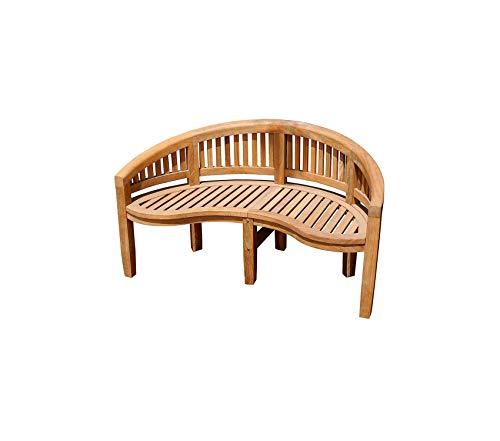 Аchlа Patio Outdoor Garden Premium Designs Monet Bench OFB-09, Natural - Monet Garden Bench