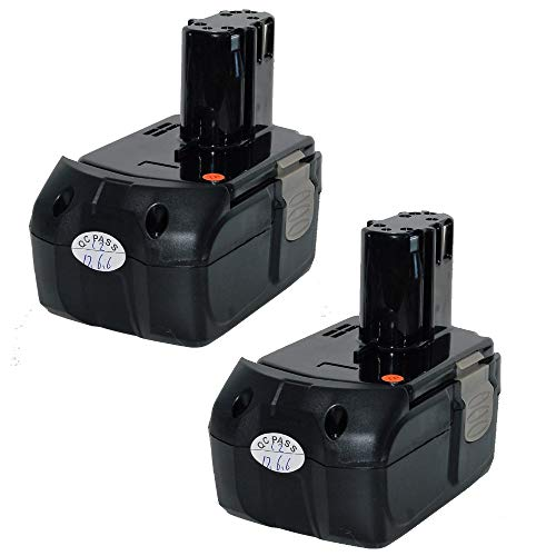 2 Pack Replacement 4.0Ah Lithium-ion Battery for Hitachi 18V Model EBM1830