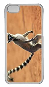 taoyix diy Customized iphone 5C PC Transparent Case - Standing Ring Tailed Lemur Berenty Reserve Madagascar Personalized Cover