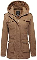 Wantdo Women's Warm Sherpa Lined Parka Coat with Removable Hood