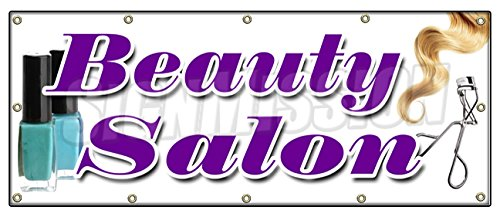 """UPC 718088518569, 48""""x120"""" BEAUTY SALON BANNER SIGN hairdresser stylist colorist color haircuts"""