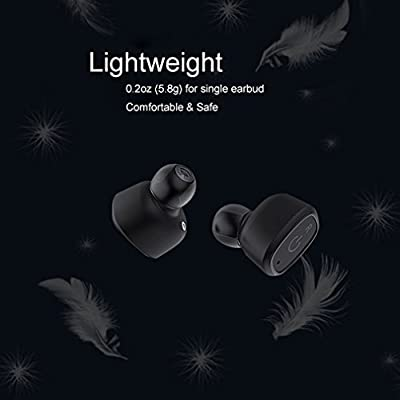 True Wireless Earbuds with Charging Case, Bluetooth 4.2 Headphones Sweatproof Waterproof IP67 Stereo Noise Canceling for Sports, Ayoki In Ear Earphones with Microphone for Smart Phones