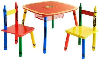 Crayola niños mesa y sillas juego de muebles de 3 colorido de los ...