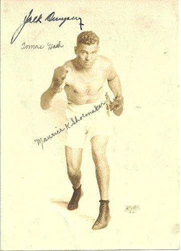 Jack Dempsey Boxing Signed Autographed Auto Sepia Photo JSA X80307 Jack Dempsey Memorabilia
