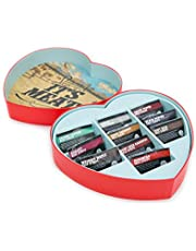 Jerky Heart – The Ultimate Valentine's Day Gift For Men – Includes 10 Delicious Beef Jerky Flavors Like Whiskey Maple and Honey Bourbon – In A Delightfully Surprising Heart-Shaped Box
