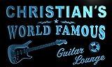 pf235-b Christian's Guitar Lounge Beer Bar Pub Room Neon Light Sign