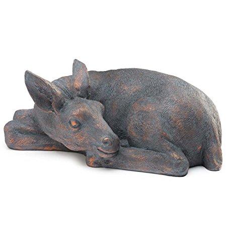 Cheap Fiberglass Fawn Garden Statue, Lying Down