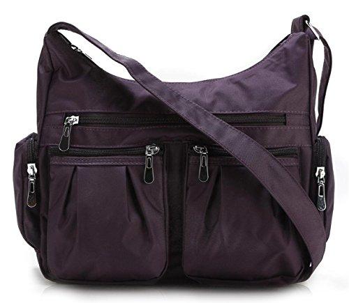 Scarleton Multi Pocket Shoulder Bag H140716 - Purple