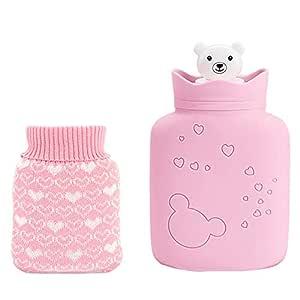 Bolsa de agua caliente con funda, calentador de manos de mini oso ...