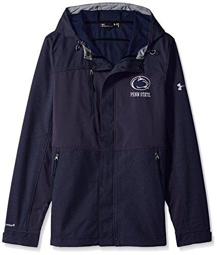 (Under Armour NCAA Men's Softshell Jacket, Navy, 3X-Large)