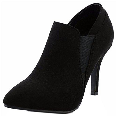 Women Dress Heel High Black Boots Elastic KemeKiss Thin Stylish 7A7wB