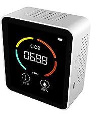 CO2-meter voor binnen, CO2 Luchtdetector, Draagbare CO2-detector (E)