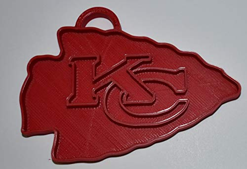 YNGLLC Kansas City Chiefs NFL Football Logo Hanging Ornament Holiday Christmas Decor 3D Printed Made in USA PR2071