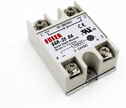 380 V 24 25 A Rel/é de estado s/ólido para controlador de temperatura PID SSR-25 DA