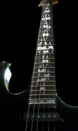 Fretboard Markers Inlay Sticker Decals for Guitar - Fire Flames - Metallic by Inlaystickers (Image #2)'