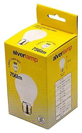 Alverlamp LD082730 - Lámpara led smd estándar regulable 8w e27 3000k: Amazon.es: Bricolaje y herramientas