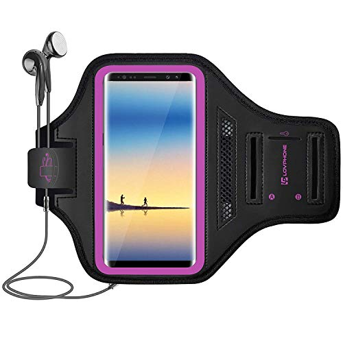 LOVPHONE Note 8/9/10/10+ Armband, Sport Running Exercise Gym Case for Samsung Galaxy Note 8/Note 9/Note 10/10+,Fingerprint Sensor Access Supported,Water Resistant and Sweat-Proof