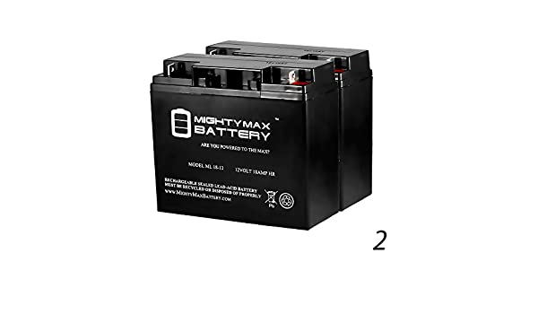 amazon com 12v 18ah battery for fire lite alarm bat 12180 2 amazon com 12v 18ah battery for fire lite alarm bat 12180 2 pack mighty max battery brand product electronics