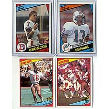 Card Rookie Topps Football (This Is the 1984 Topps Football Complete Near Mint 396 Card Set. Featuring Rookie Cards of Hall of Famers Dan Marino, John Elway, Howie Long, Eric Dickerson and Others. Loads of Stars Including Joe Montana, Lawrence Taylor, Marcus Allen, Terry Bradshaw, Art Monk, Ronnie Lott, Walter Payton, Darrell Green and Others!)