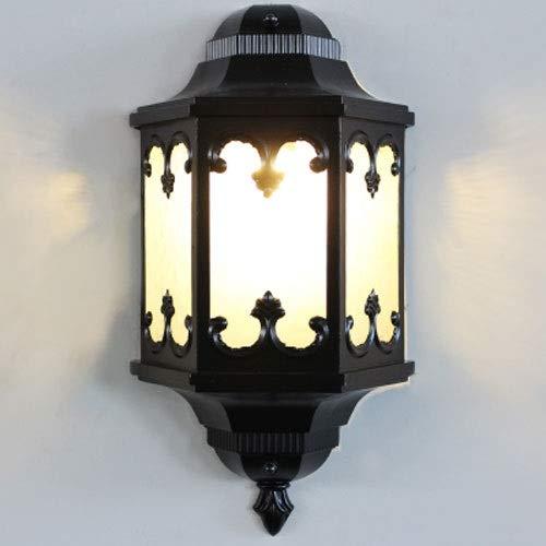 Hdmy La metà della retro lampada da parete esterna della lanterna della luce della parete della lampadina della luce della lampada da parete della lanterna all'aperto del giardino dell'annata con E27