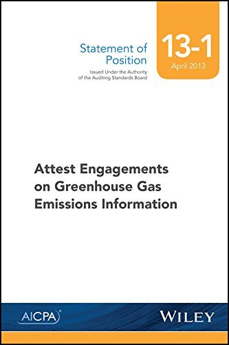 Greenhouse Gas - SOP 13-1 Attest Engagements on Greenhouse Gas Emissions Information