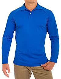 Men's Perfect Slim Fit Long Sleeve Soft Fitted Polo Shirt