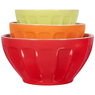 3 Piece Thumb Print Mixing Bowl Set