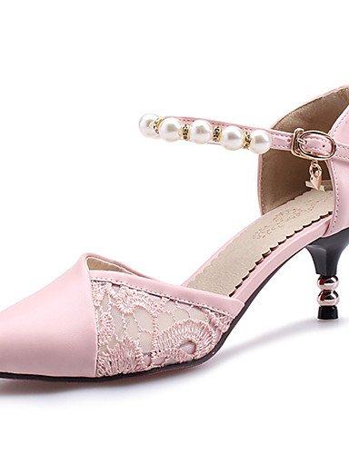 BGYHU GGX/Damen Schuhe Stiletto Heel Spitz Zulaufender Zehenbereich Ankle Strap Perle Spitze d Orsay Pumpe mehr...