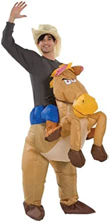 Halloween Inflatable Cowboy Outfit - Horse Fancy Dress Costume - Stag Night Party