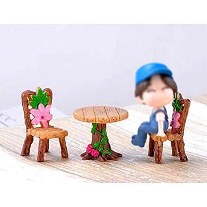 plantas de paisaje Cratone A maceta de flores casa de mu/ñecas Adornos para silla de jard/ín en miniatura adornos accesorios para bricolaje decoraci/ón de plantas suculentas 2.2 * 4.1cm