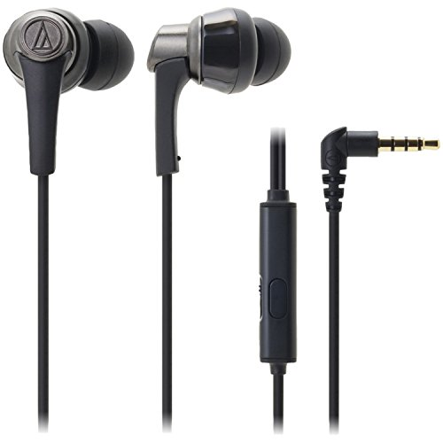 Cheap Audio-Technica ATH-CKR5iS SonicPro In-Ear Headphones with In-line Mic & Control, Black