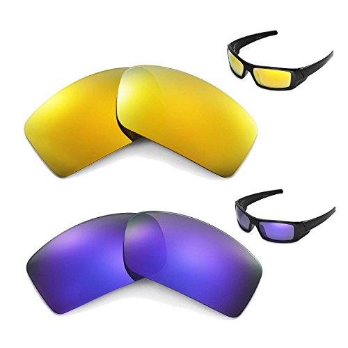 New Walleva Polarized 24K Gold + Purple Lenses For Oakley - Lenses Gascan Transition Oakley