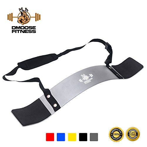 Arm Blaster by DMoose Fitness (Silver)