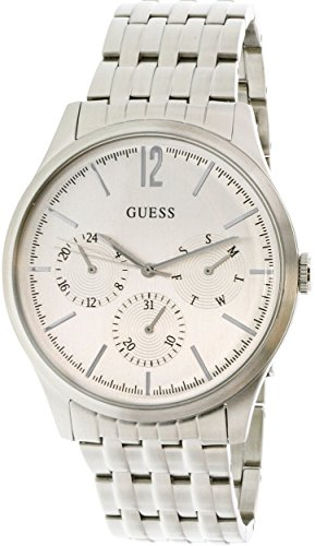Guess-Mens-U0995G1-Silver-Metal-Quartz-Fashion-Watch
