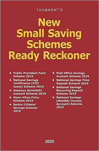 Taxmann's New Small Saving Schemes Ready Reckoner (2020 Edition)