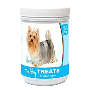 Healthy Soft Chewy Dog Treats for Yorkshire Terrier - Over 80 Breeds - Tasty Flavored Snack - Small Medium or Large Pets - Training Reward - 7oz 12