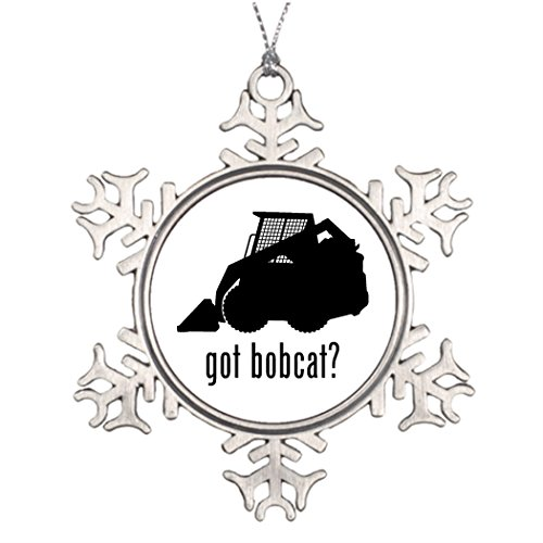 Touytlyd Xmas Trees Decorated Bobcat Christmas Personalized Snowflake Ornaments Dirt Digger Bobcat