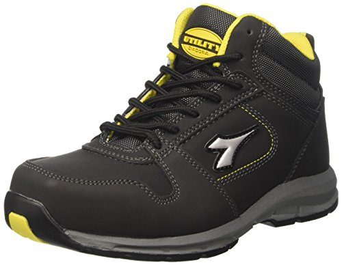 Diadora D-Brave Hi S3 Hro, Zapatos de Trabajo Unisex Adulto Negro (Nero)