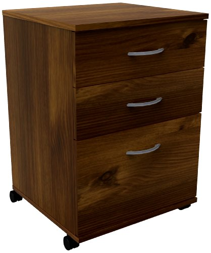 Essentials 3-Drawer Mobile Filing Cabinet 12092 from Nexera, Truffle (Truffle Nexera)