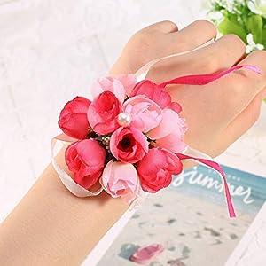Yosooo Wrist Flower, Wrist Corsage Hand Flower for Bride Wedding Prom Party 38