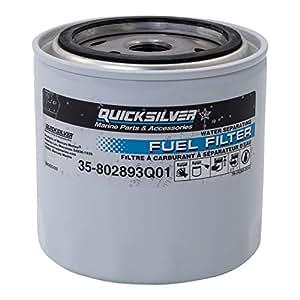 amazon com 802893q01 fuel water separating filter quicksilver35 892657 Fuel Filter #10