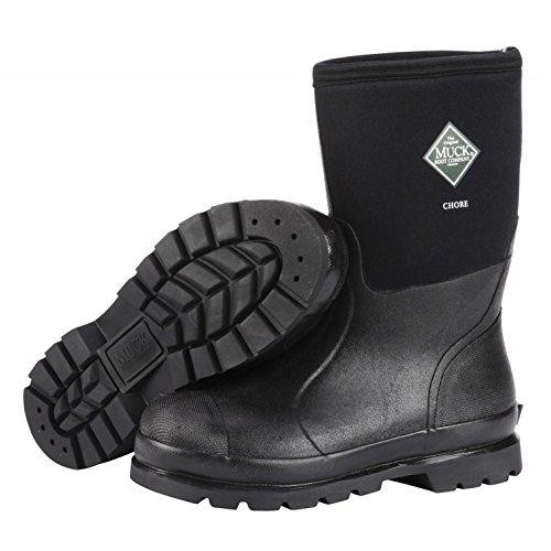 Muck Chore Classic Men's Rubber Work Boots, Black, size Men's 10M-Women's ()