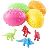 2 Dz Dinosaurs Eggs with Mini toy Dinosaur figures Inside - 24 Per Order