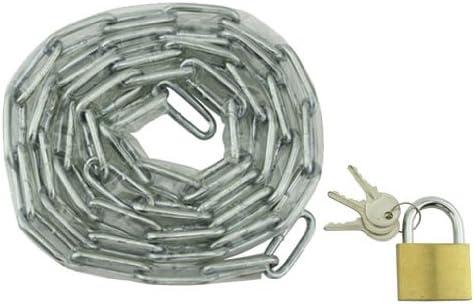 Lowrider Chain Lock 72 x 5mm Clear. Bike Lock, Bicycle Lock, Beach Cruiser, Chopper, Limo, Stretch Bike, BMX, Track, Fixie, Mountain Bikes