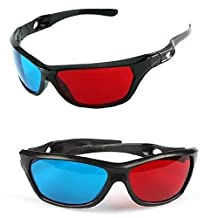 Red-blue / Cyan Anaglyph Simple Style 3d Glasses 3d Movie Game-extra Upgrade Style (3Pcs With Different Style)