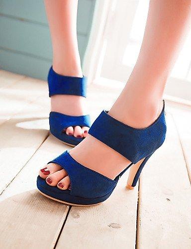 Damenschuhe Outdoor Schwarz Blau Toe Kleid Schwarz Peep Plateau Lila Casual Heel Heels Heels Sandalen Grün ShangYi g8dwTqxgR