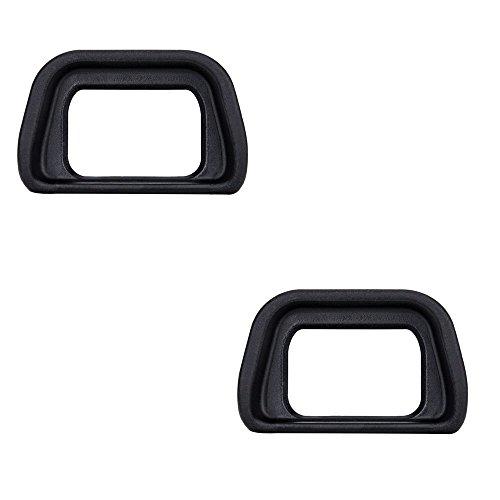 (2-Pack) JJC Eyepiece/Eyecup / Eye Cup Viewfinder for Sony Alpha A6300/A6000/NEX-6/NEX-7 Cameras and FDA-EV2S Electronic viewfinder, Replaces Sony FDA-EP10 Eyepiece