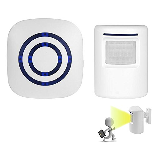 Wireless Home Security Driveway Alarm, Visitor Door Bell Chi